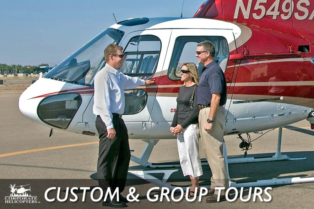 Custom helicopter tours