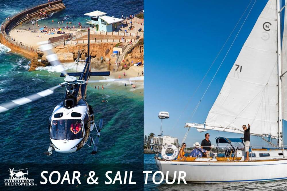 Sailing tour and helicopter tour in San Diego