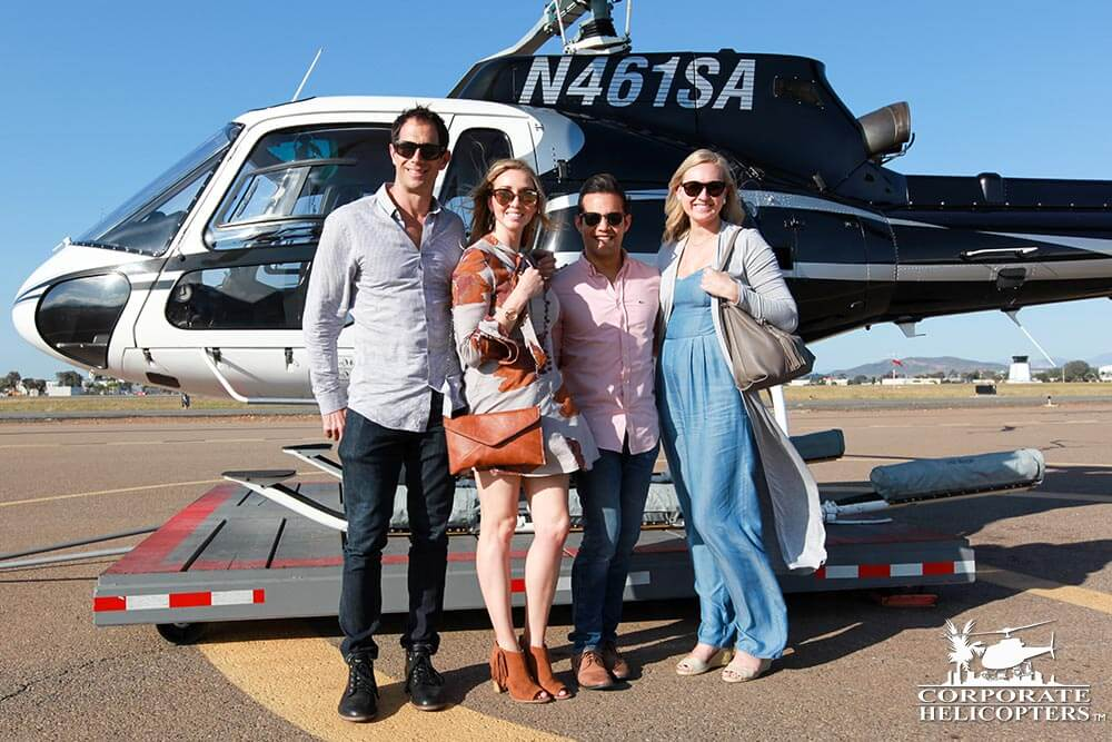 Helicopter charter flights from Corporate Helicopters of San Diego