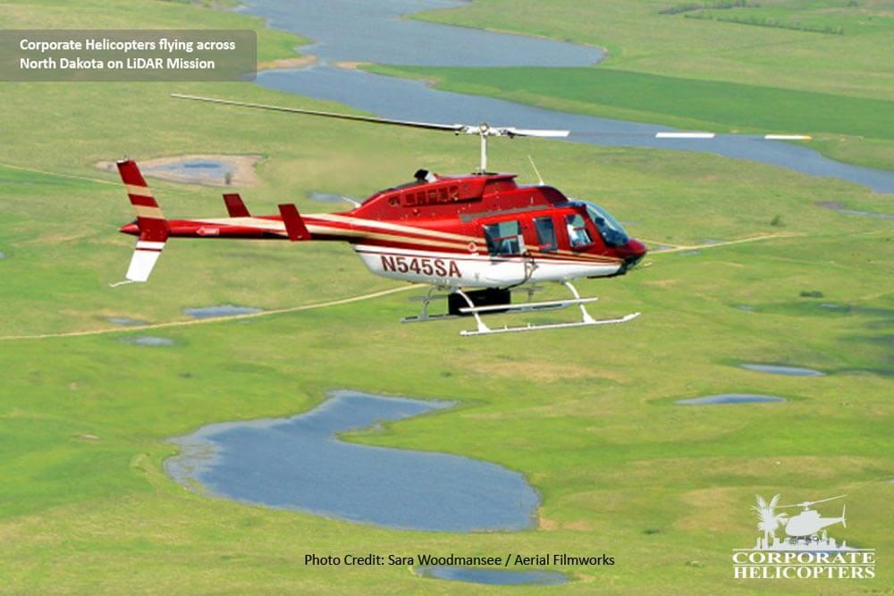 LiDAR helicopter