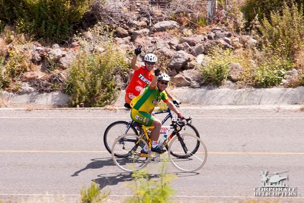 2005 Rosarito Ensensada bike race coverage by helicopter