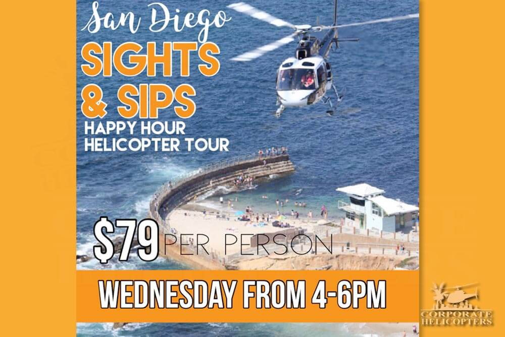 San Diego Sights & Sips Happy Hour Helicopter Tour