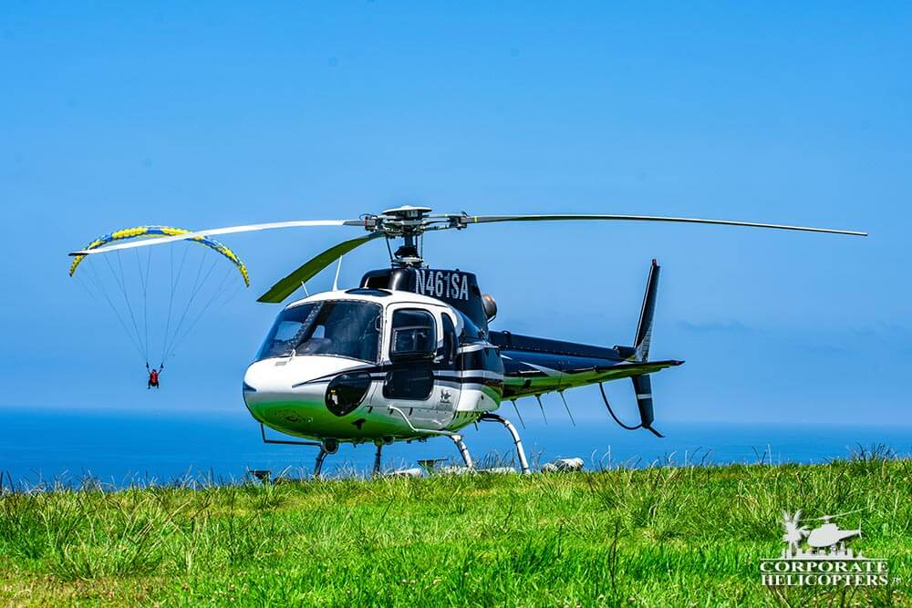 Corporate Helicopters flew members of the San Diego County Water Authority over various lakes, rivers, estuaries, pump stations, landed at the Carlsbad Desalination Plant, and finally landed at the Torrey Pines Glider port.
