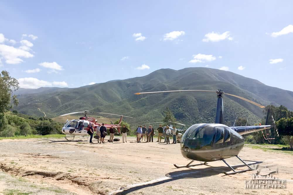 Helicopter charter to Mexico with Corporate Helicopters and Iconic Adventures for members of The Atlas 400 Club.