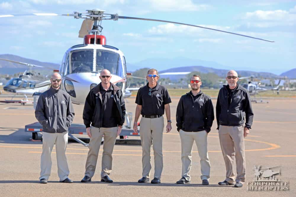 Helicopter charter team at Corporate Helicopters of San Diego
