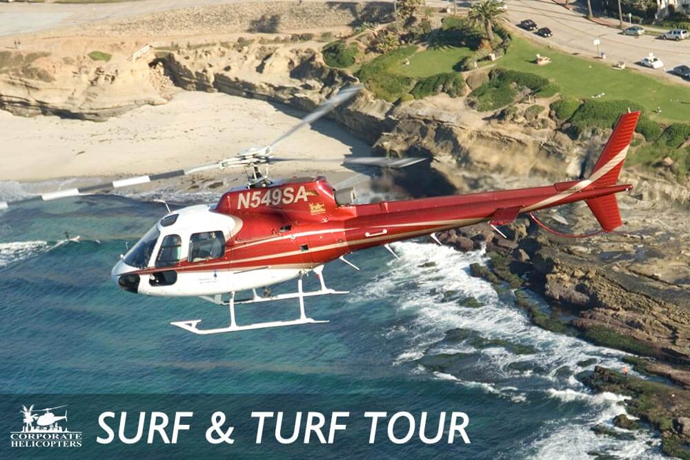 Surf & Turf helicopter tour of San Diego