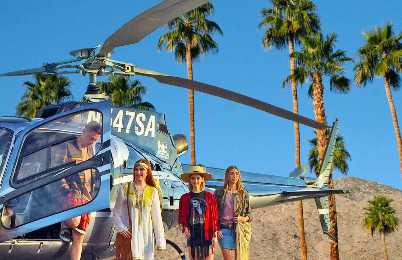 Helicopter charter to the Coachella Valley area / Palm Springs