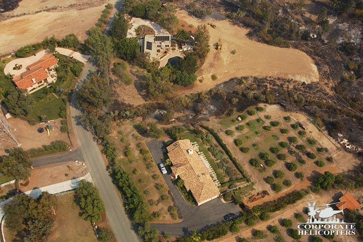 Helicopter real estate and land survey