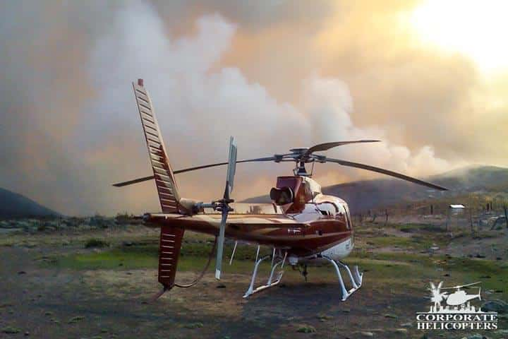 Helicopter firefighters