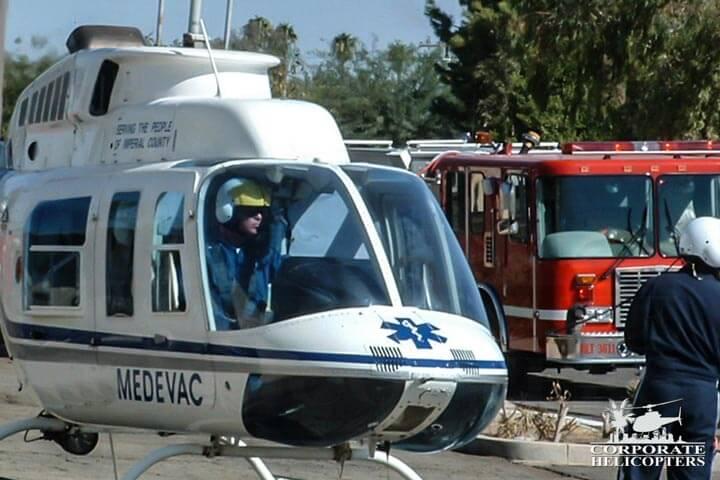 Helicopter ambulance.