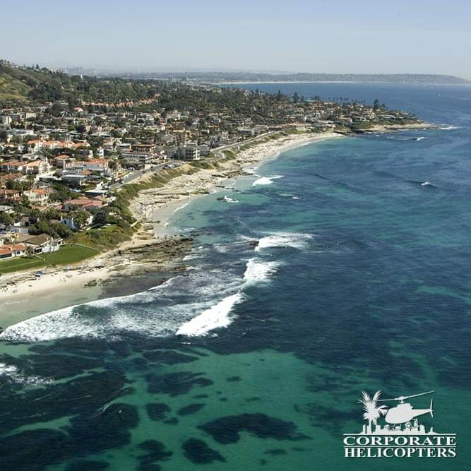 La Jolla Coastline by helicopter