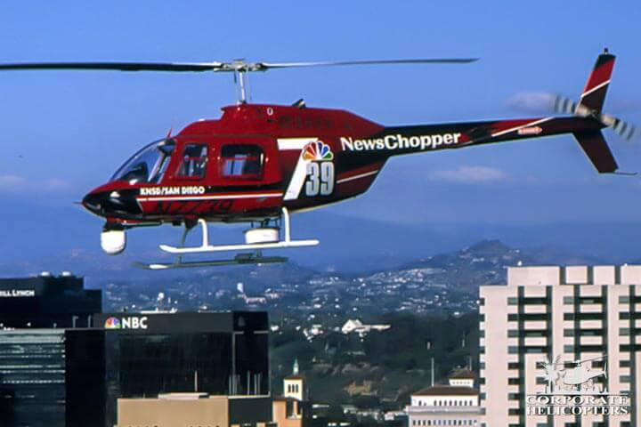San Diego TV news helicopter