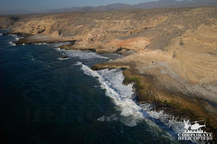 Helicopter flight of Baja Mexico, coastline