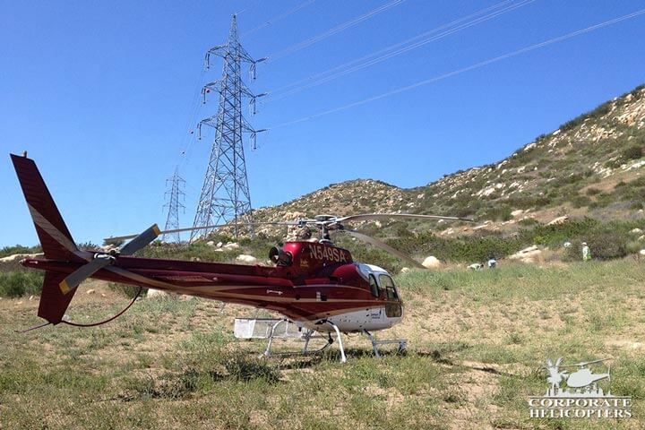 Monitor powerlines helicopter