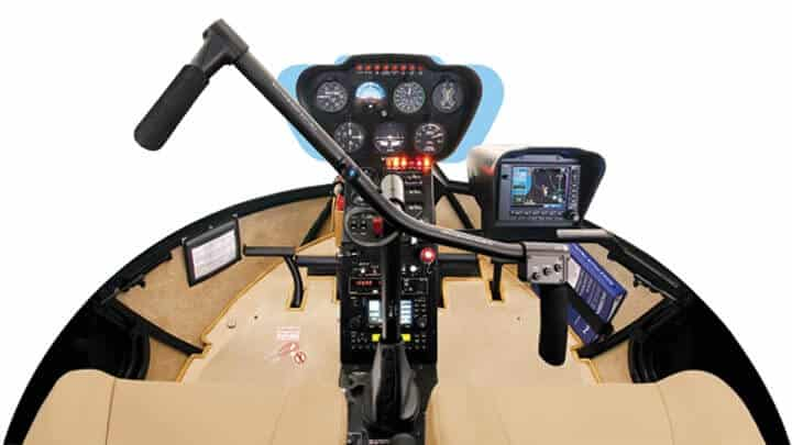 R44 cockpit