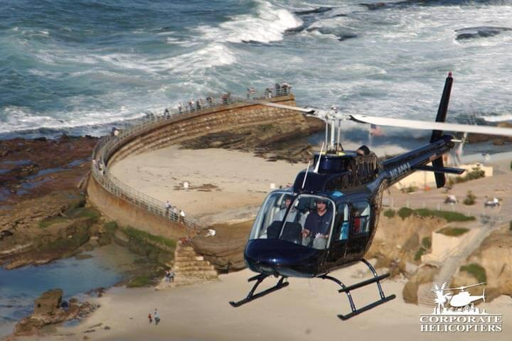 Helicopter in San Diego.