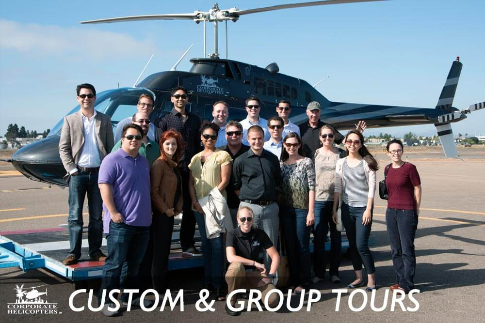 Custom & group helicopter tours of San Diego, Southern California and Baja, Mexico.