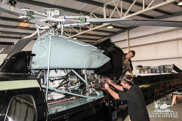 expert repair and maintenance for every part of the maintenance schedule on the AS350, EC-120, and EC-130