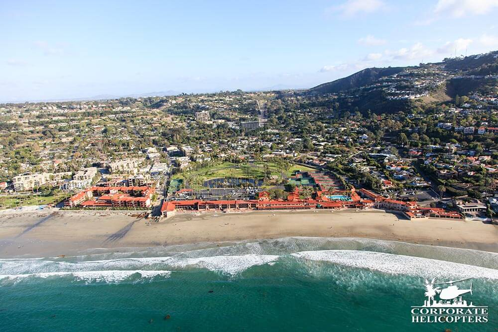 La Jolla Shores. Helicopter tour from Corporate Helicopters of San Diego.