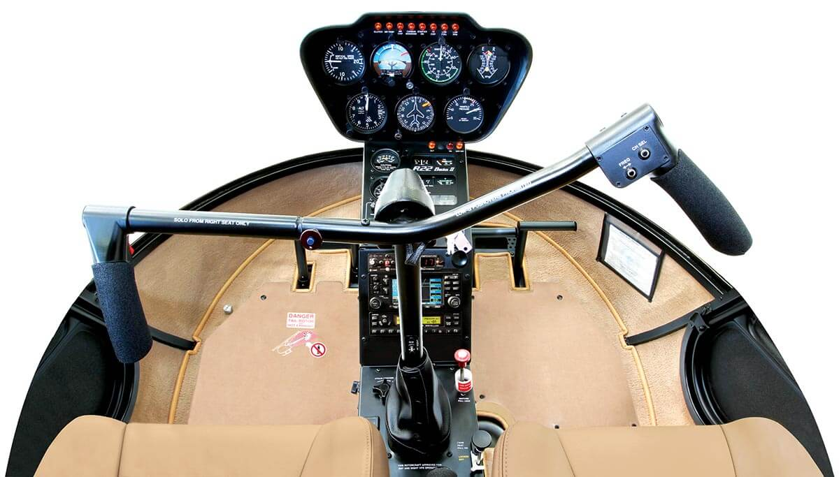 Robinson R22 Beta II cockpit