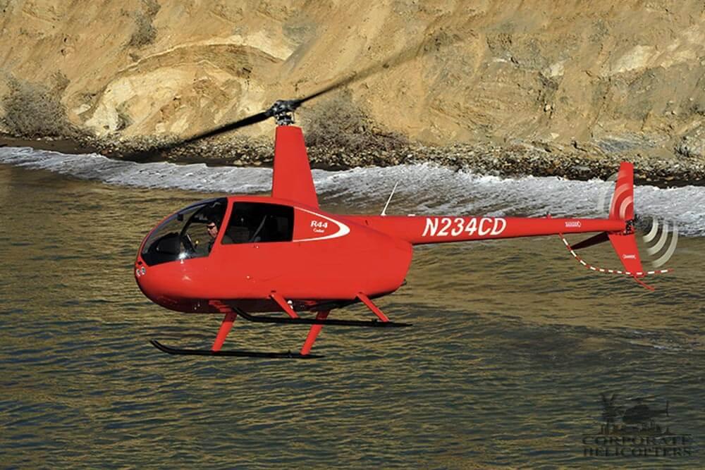 Robinson R44 Cadet flight training