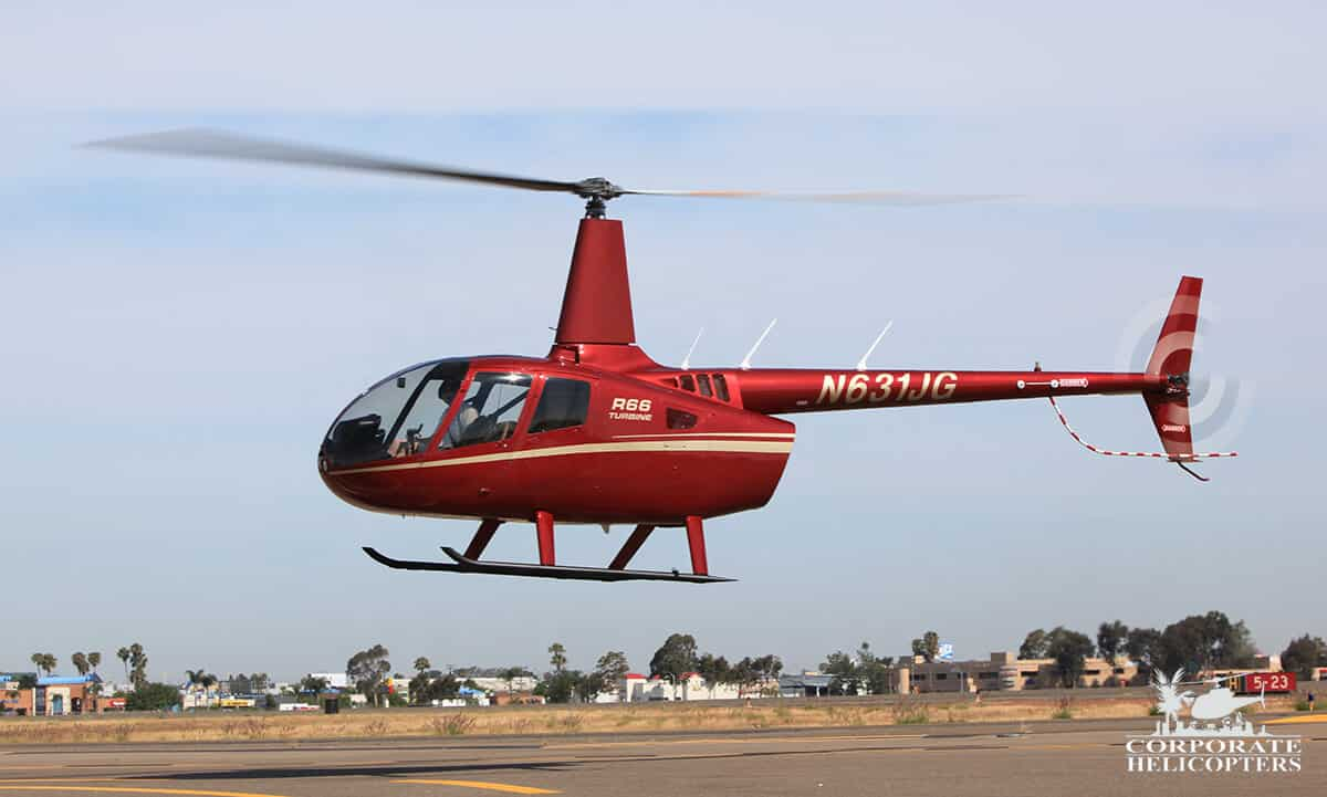 Robinson R66 Turbine helicopter for sale at Corporate Helicopters of San Diego.