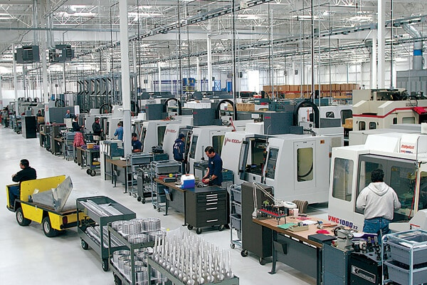CNC machining centers.