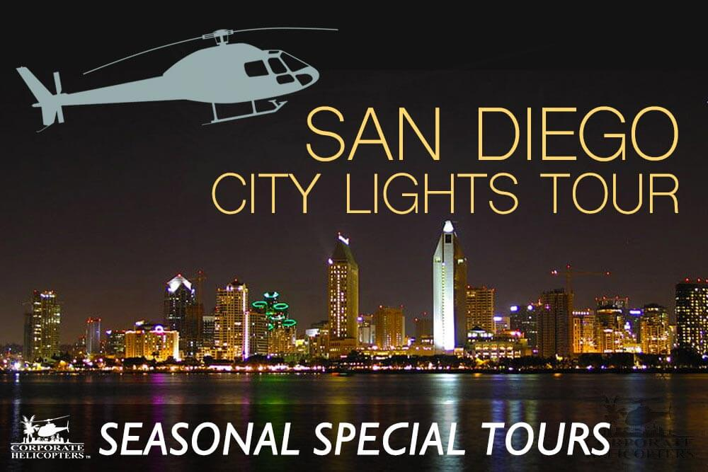 Special seasonal helicopter tours of San Diego from Corporate Helicopters